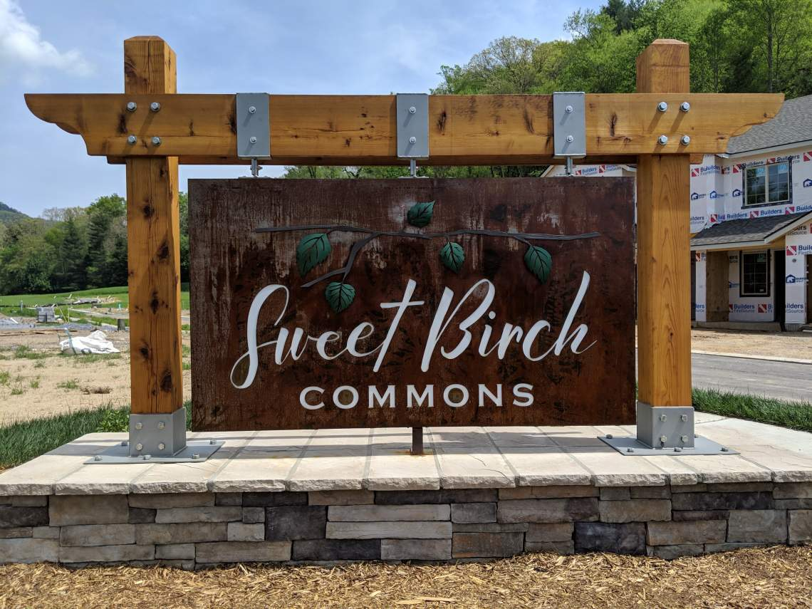 Sweet-Birch-Commons-Sign