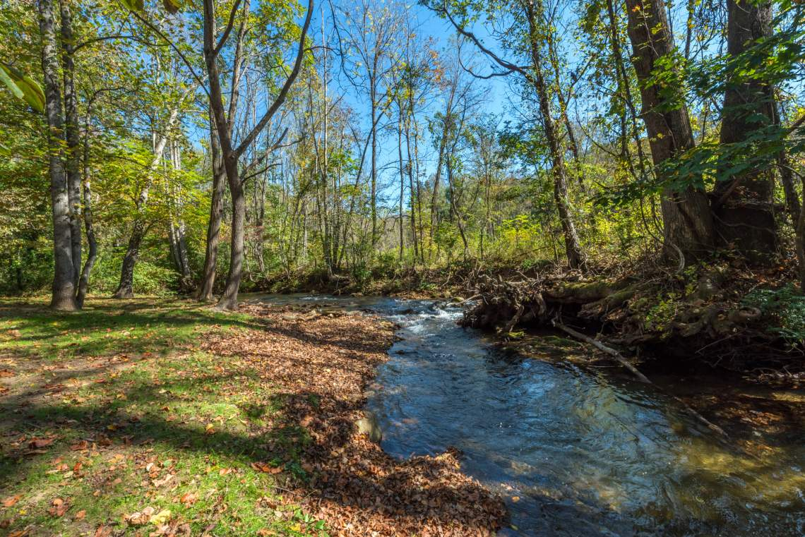 Flat Creek flows along the east side of Mountainbrook Village.