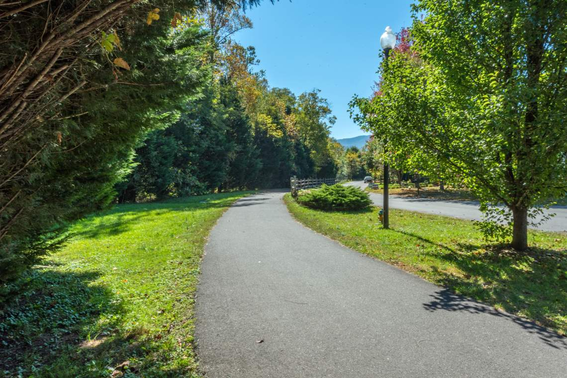 The Flat Creek Greenway leads from Mountainbrook Village to Downtown Black Mountain.