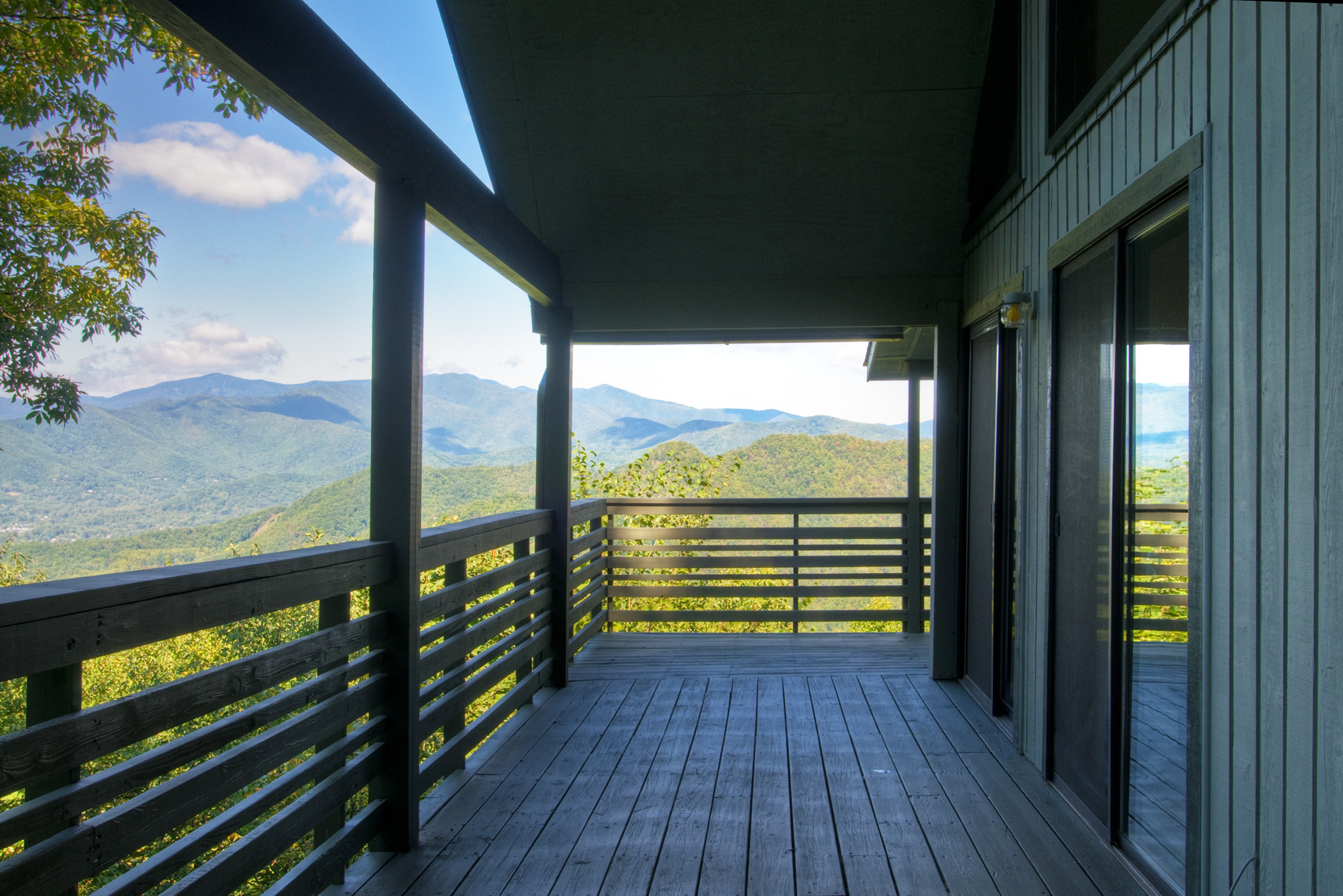 View toward Craggy Mountains and Mt. Mitchell from a Black Mountain, NC summer cabin