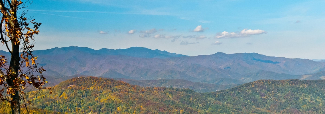 Views toward Pisgah National Forest near Asheville, NC