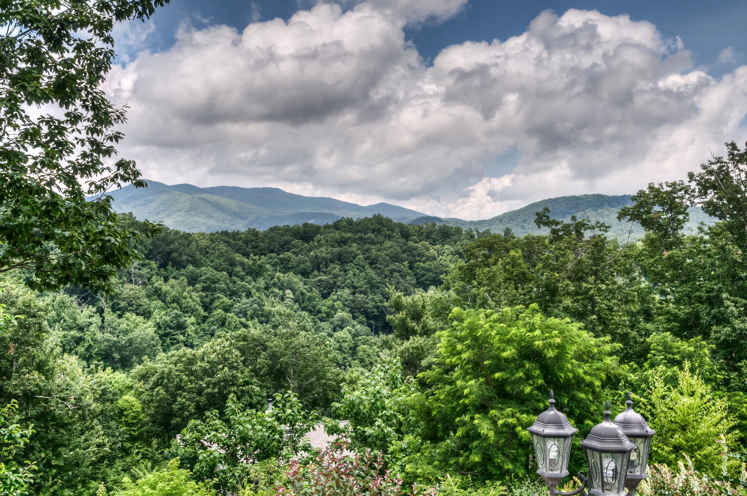 North-facing View from Fairview, NC
