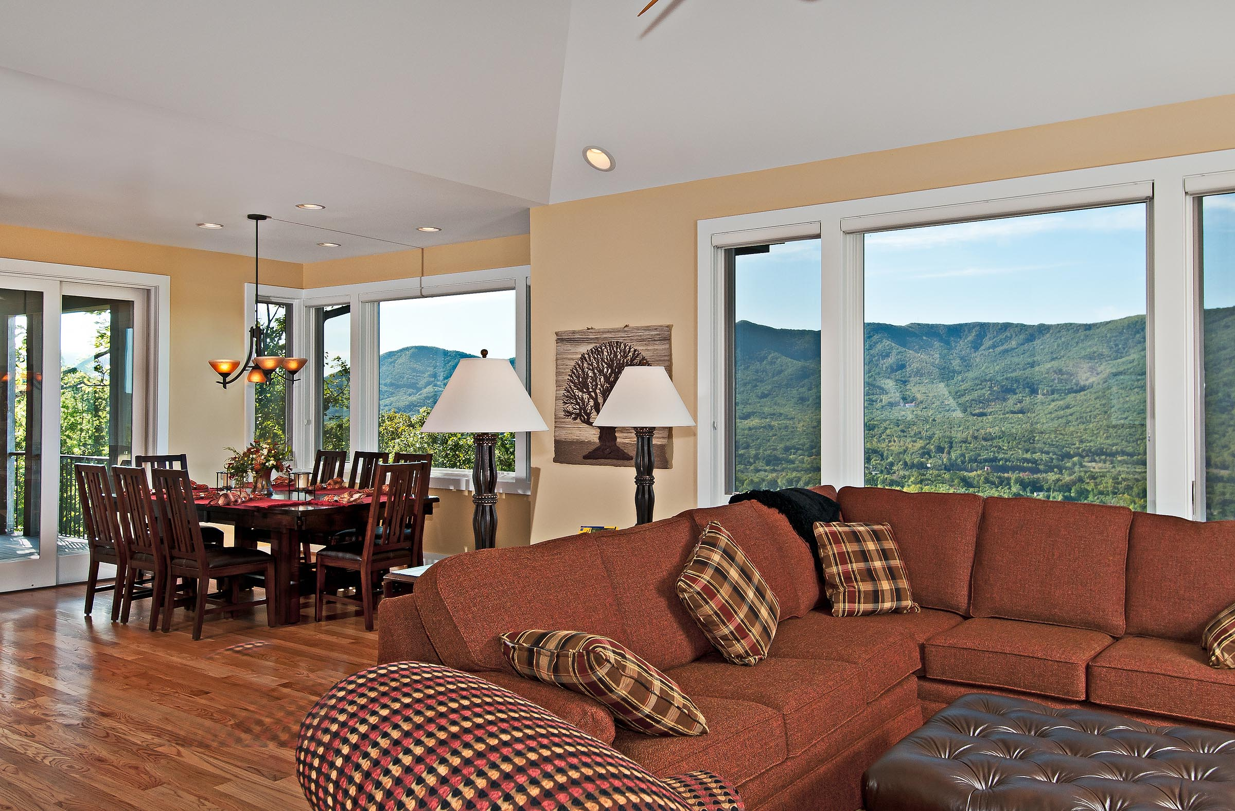 Custom home in Black Mountain, North Carolina with views across the Swannanoa Valley