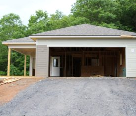 Construction progress on Al and Carol's new house