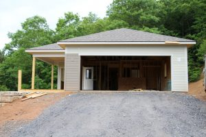 Construction progress on Al and Carol's new home