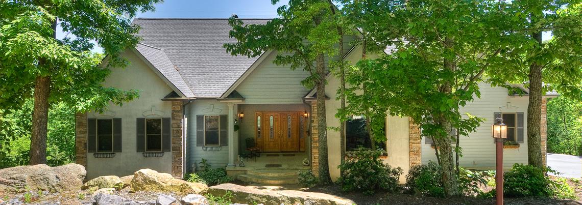 Contemporary home in gated Laurel Ridge community, Black Mountain, North Carolina