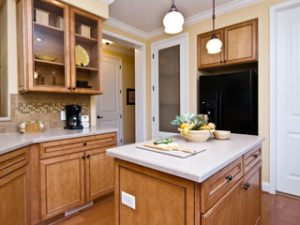 Modular Home Kitchen with Island