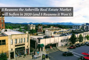 Image of Asheville NC stores and parking garage from above