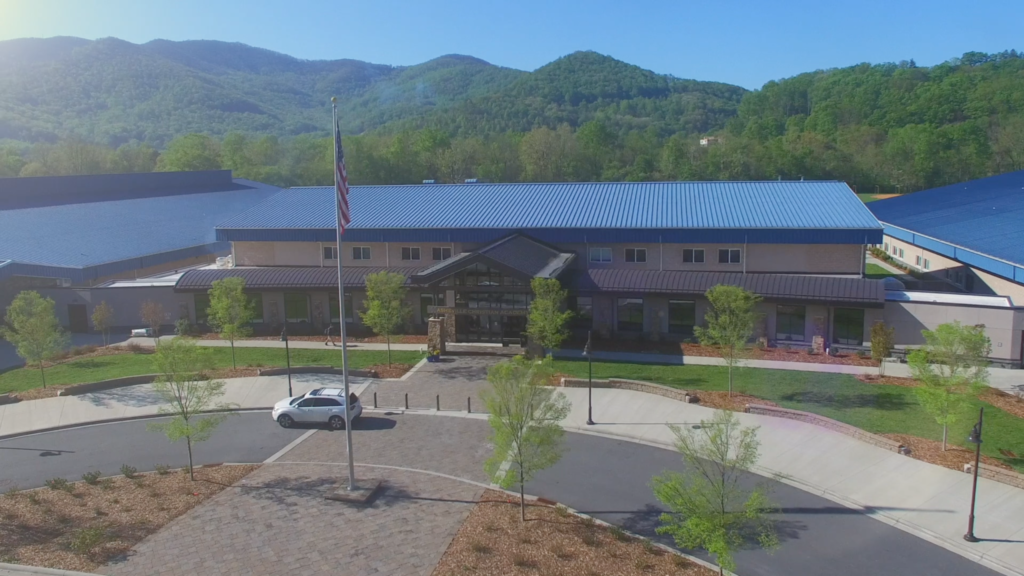 Aerial View of Asheville Christian Academy, Swannanoa, NC