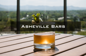 Whiskey glass with mountains in the background