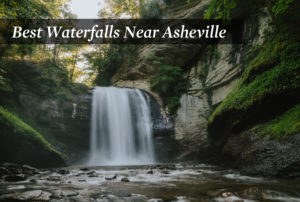 A waterfall in Asheville