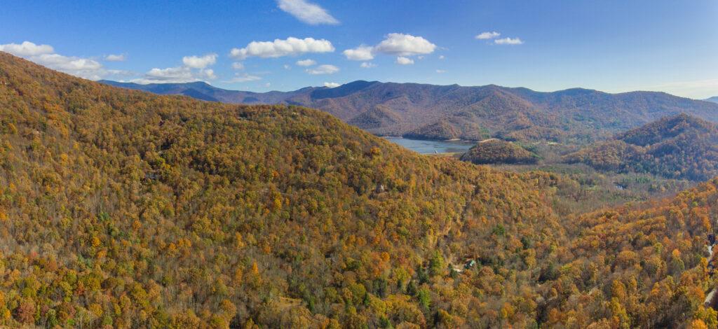 Burnett Reservoir and Fall Colors