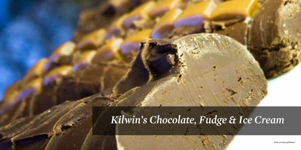 Chocolate fudge from Kilwin's Chocolate, Fudge & Ice Cream.