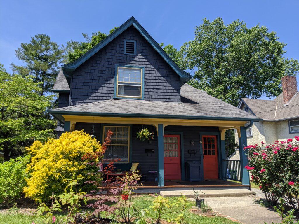 Historic home with red door
