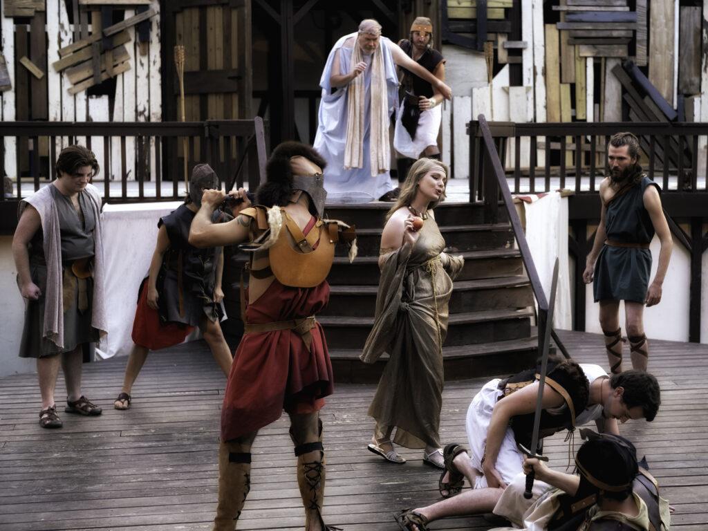 Outdoor Shakespeare actors