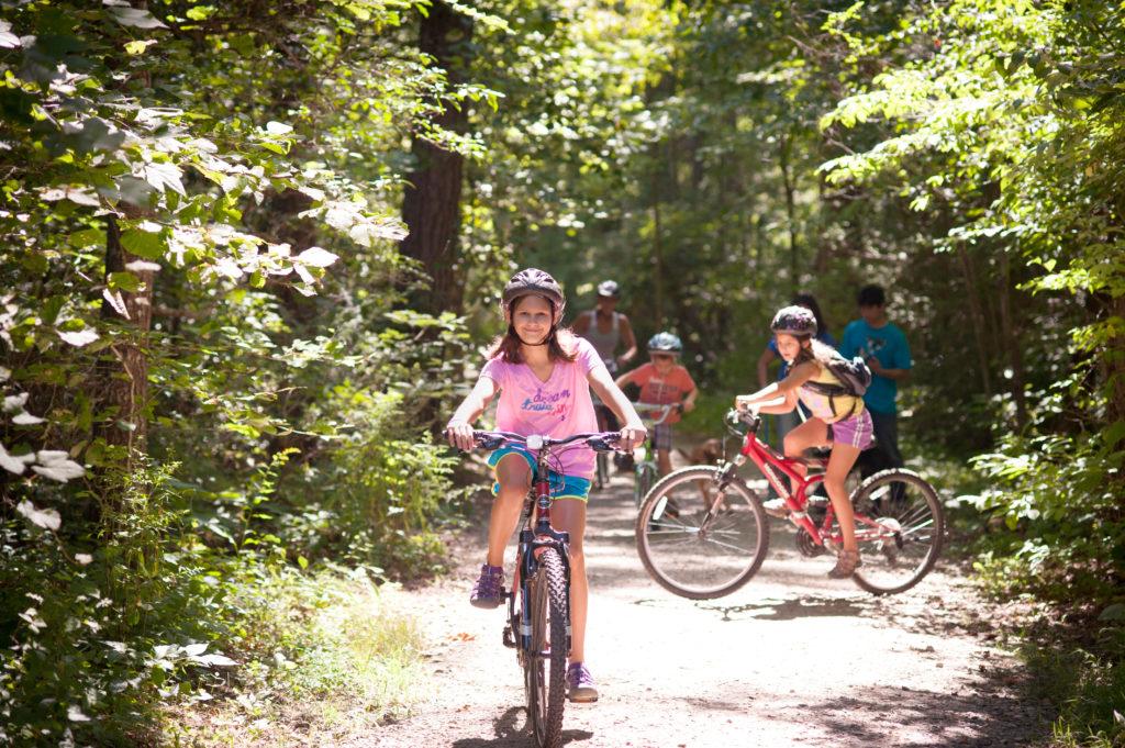 Biking at the North Carolina Arboretum