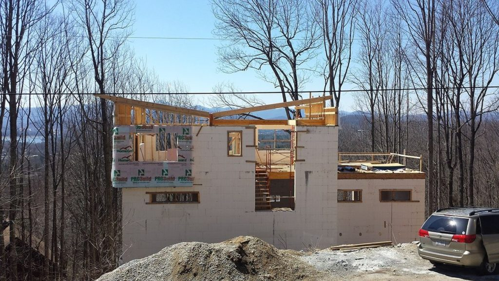 Modern Home Under Construction in Asheville, NC