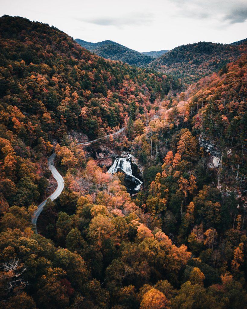 Waterfalls near the Blue Ridge Parkway