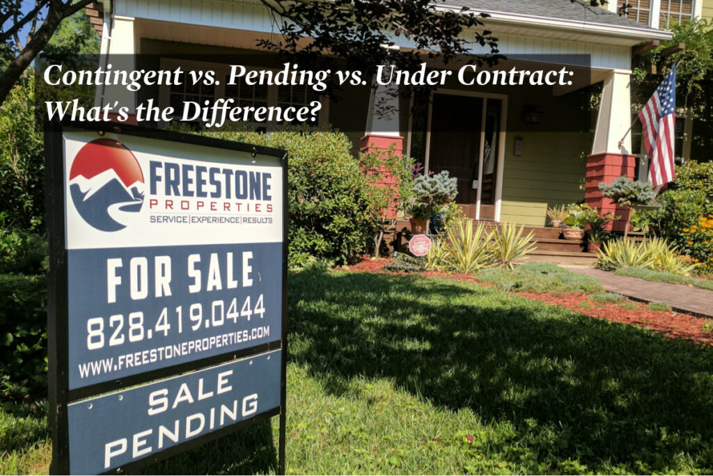 Real estate sign with a Sale Pending Rider.