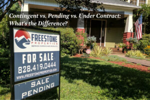 Real estate sign with a Sale Pending Rider