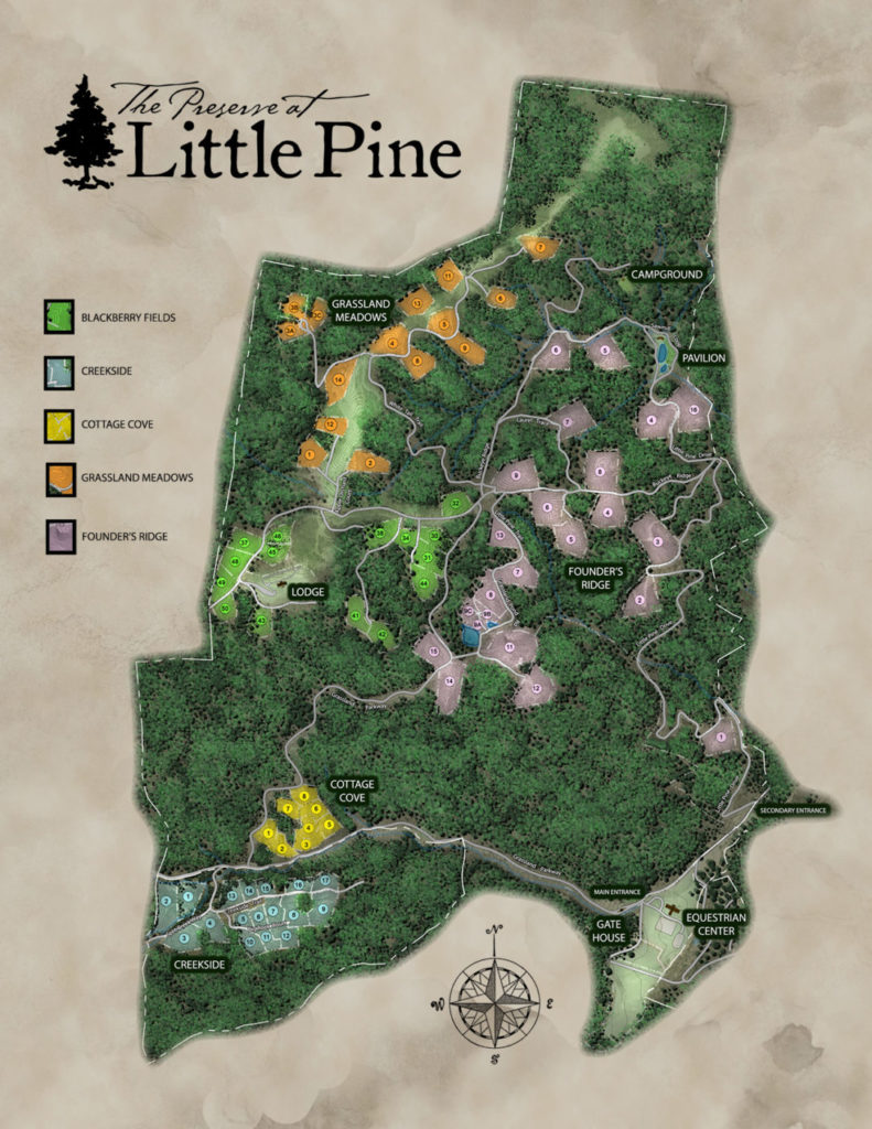 The Preserve at Little Pine Map
