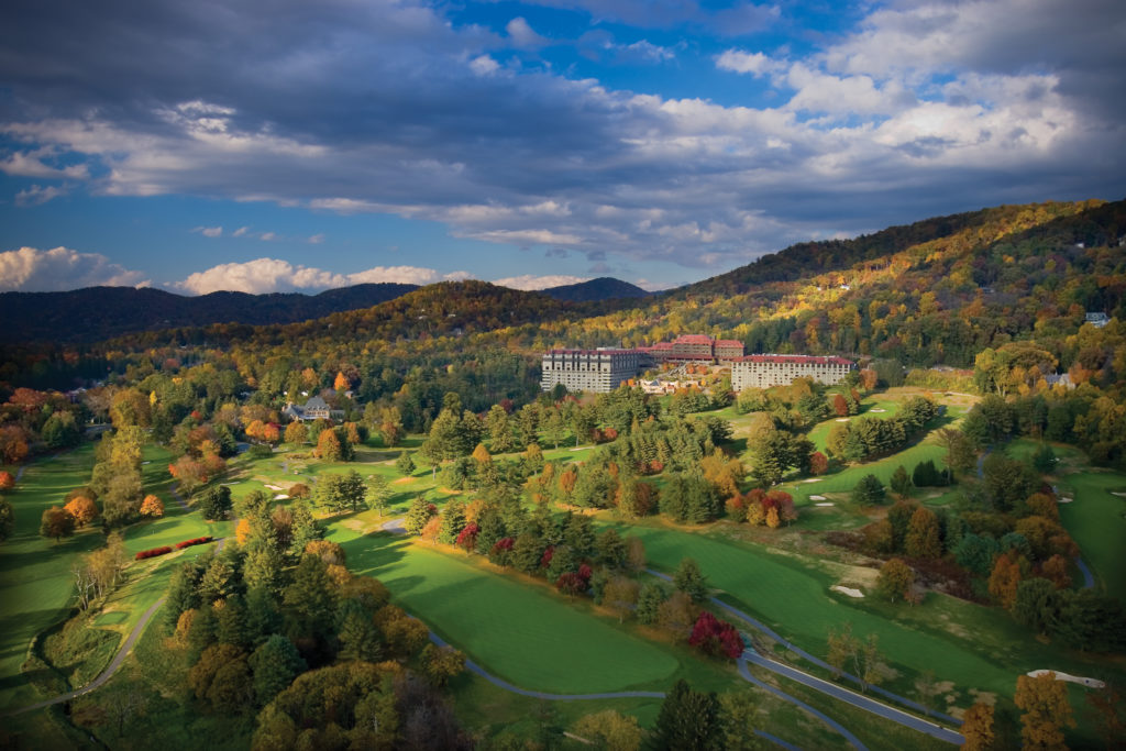 The Omni Grove Park Inn golf course, Asheville, NC.