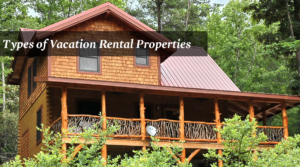 Multiple story vacation rental cabin in the woods near Asheville, NC.