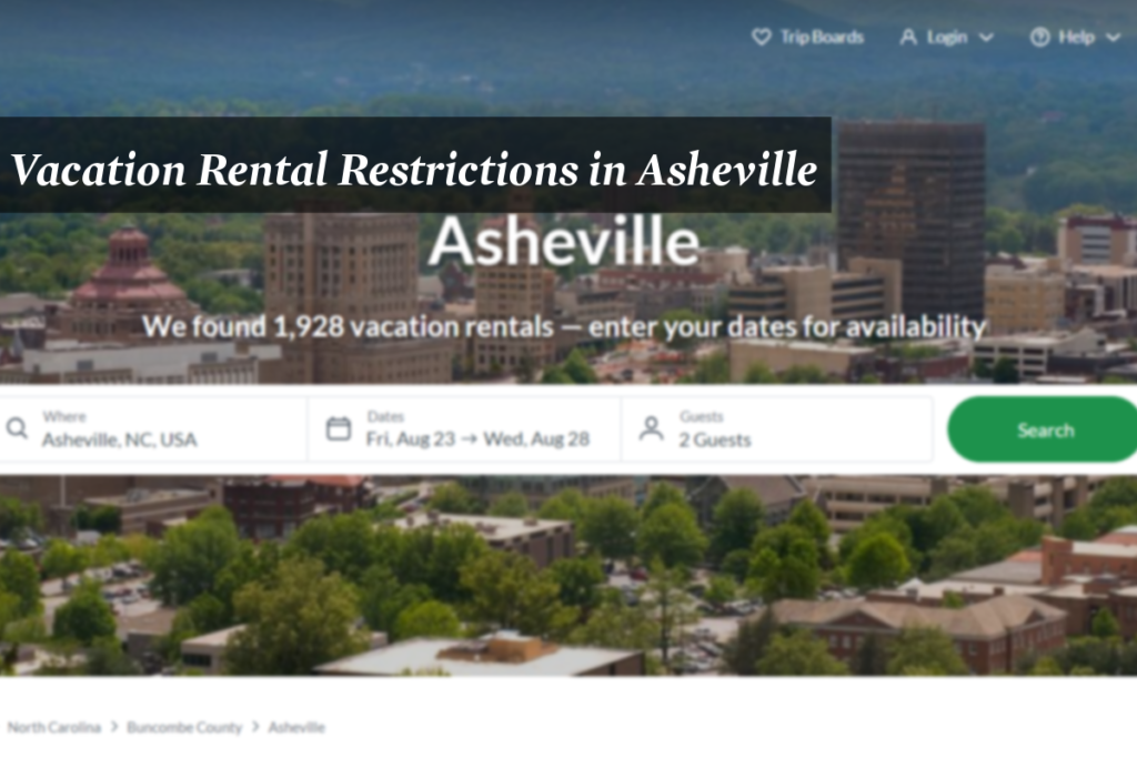 Image of vacation rental search platform after it found 1,928 rentals.