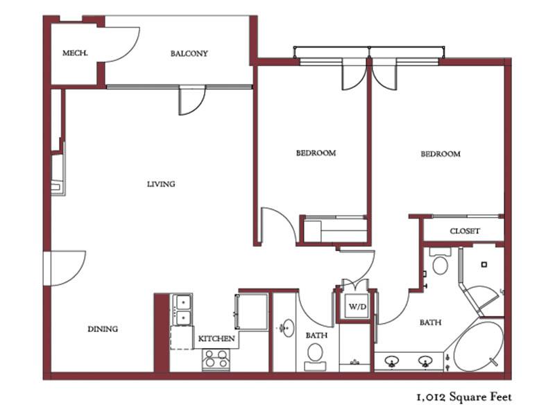 308 Bowling Park floor plan.