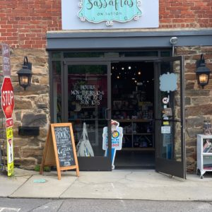 This is a bookstore and coffee shop in Black Mountain called Sassafras.